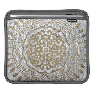Conception d'or de mandala poches pour iPad