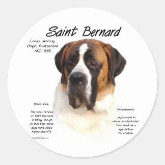 Conception (douce) d'histoire de St Bernard Adhésif Rond