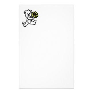 Conception d'ours de marguerite papier à lettre