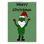 Conception drôle de Noël du père noël de conserves Carte