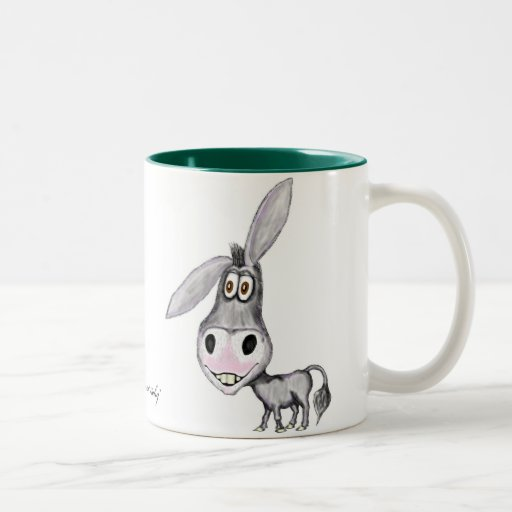 Conception drôle de tasse d'âne