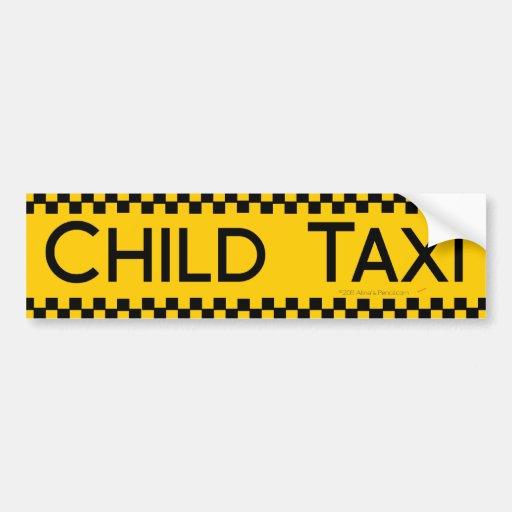 Conception drôle de taxi d'enfant pour conduire de autocollant pour voiture