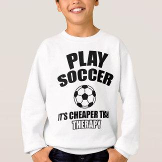 conception du football sweatshirt