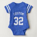 Conception du Jersey de sports du bébé | de bleu T-shirts
