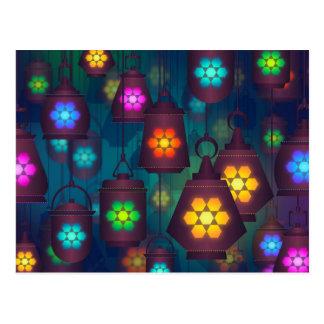 Conception du Moyen-Orient de lanternes Arabes Carte Postale