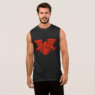 Conception d'un DIEU et de COUNTRY_red T-shirt Sans Manches