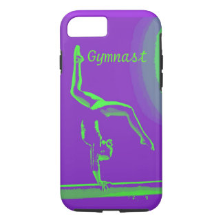 conception dure de gymnaste de couverture de coque iPhone 7