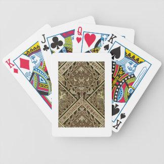 Conception ecclésiastique de papier peint de mosaï cartes à jouer