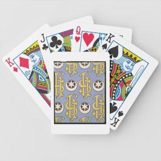 Conception ecclésiastique de papier peint d'étoile cartes à jouer