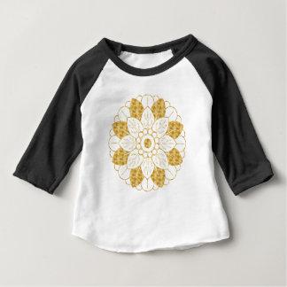 Conception élégante de mandala fascinant d'or t-shirt pour bébé