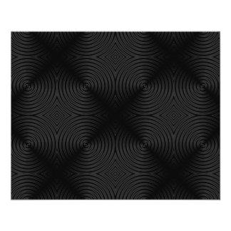 Conception élégante et noire de cercles. Coutume Prospectus 11,4 Cm X 14,2 Cm