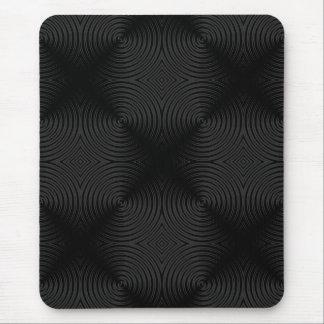 Conception élégante et noire de cercles. Coutume Tapis De Souris