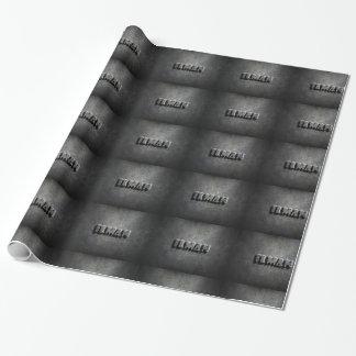 conception en acier brillante d'arrière - plan de papier cadeau