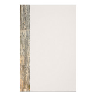 Conception en bois rustique papier à lettre