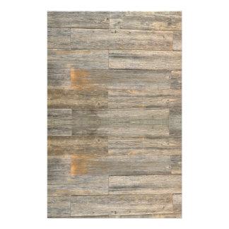 Conception en bois rustique papier à lettre customisable