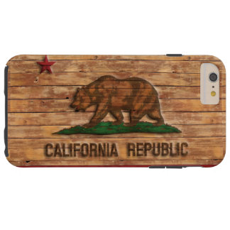 Conception en bois vintage de drapeau de coque tough iPhone 6 plus
