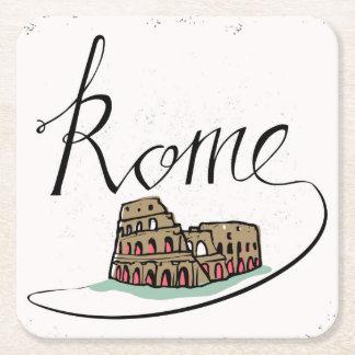 Conception en lettres de main de Rome Dessous-de-verre Carré En Papier