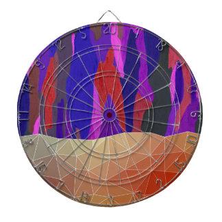 Conception en pastel colorée abstraite de regard jeu de fléchettes
