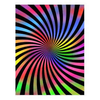 Conception en spirale colorée : carte postale