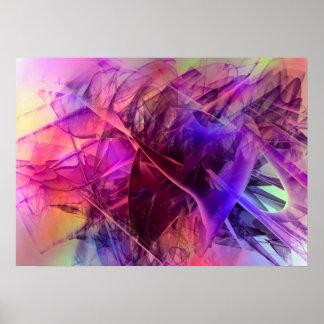 Conception en verre brillante en épi d'abrégé sur affiche