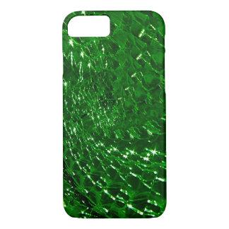 Conception en verre crépitée de remous - émeraude coque iPhone 7