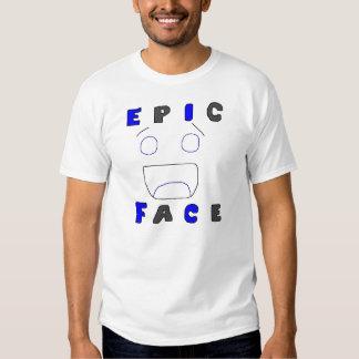 Conception épique deux de visage t-shirt