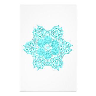 Conception ethnique de turquoise motifs pour papier à lettre