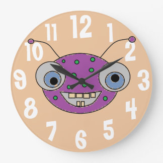 Conception étrangère de monstre pourpre Toothy de Grande Horloge Ronde