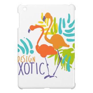 Conception exotique de logo avec des oiseaux de coques iPad mini
