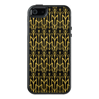 Conception extraordinaire d'art déco de Noir-Or Coque OtterBox iPhone 5, 5s Et SE