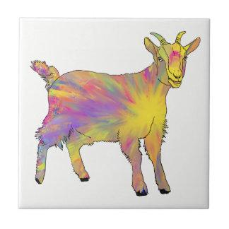 Conception flamboyante colorée de chèvre d'art carreau