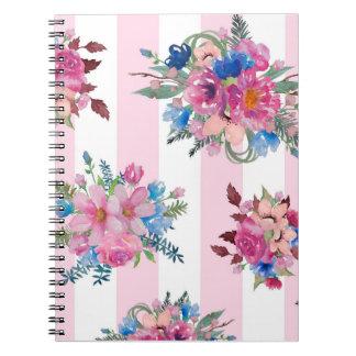 Conception florale assez rose carnet