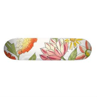 Conception florale de jardin avec l'arrière - plan plateaux de skateboards