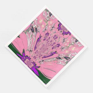 Conception florale de motif de belle famine serviette jetable