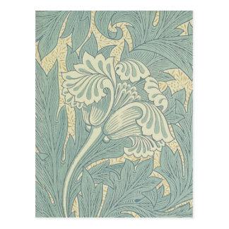 Conception florale de tulipe vintage de William Carte Postale