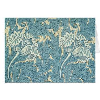 Conception florale de tulipe vintage de William Cartes