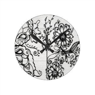 Conception florale décorative pendule