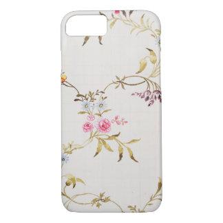 Conception florale des oeillets et des roses pour coque iPhone 7