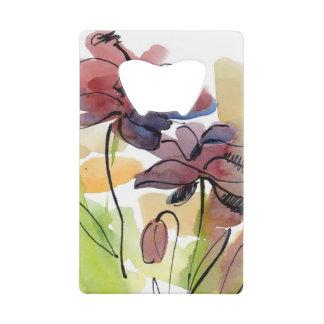 Conception florale d'été avec le résumé peint à la