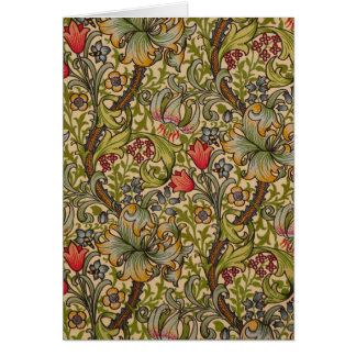 Conception florale d'or vintage de Lilly Cartes
