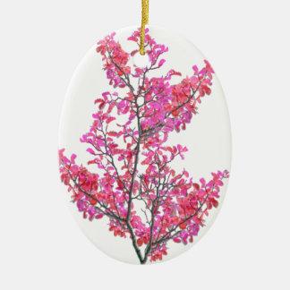 Conception florale mignonne colorée ornement ovale en céramique