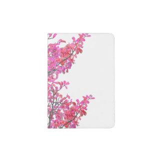 Conception florale mignonne colorée protège-passeport