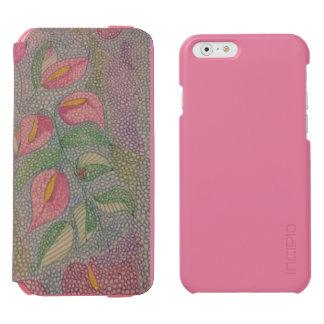Conception florale moderne mélangée coque-portefeuille iPhone 6 incipio watson™
