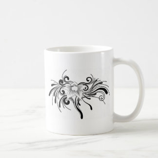 Conception florale mug blanc