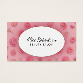 Conception florale rose cartes de visite