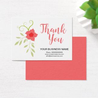 Conception florale rose de carte de remerciements
