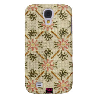 Conception florale rose de point de croix de motif coque galaxy s4