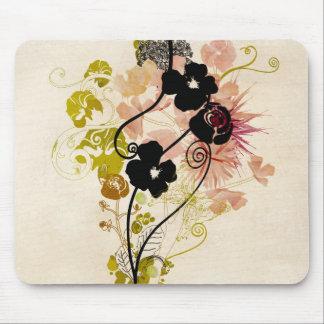 Conception florale vintage Mousepad Tapis De Souris