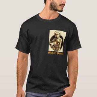 Conception foncée de pièce en t de PUISSANCES T-shirt
