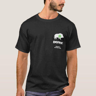 Conception foncée de porc de Bucknuts de T-shirt